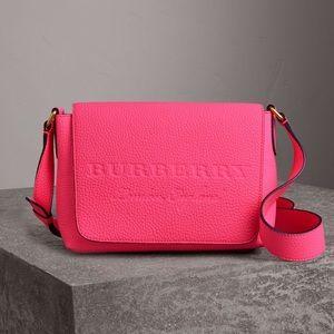Neon pink Burberry purse